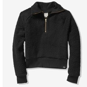 VS PINK SHERPA HALF-ZIP Black large
